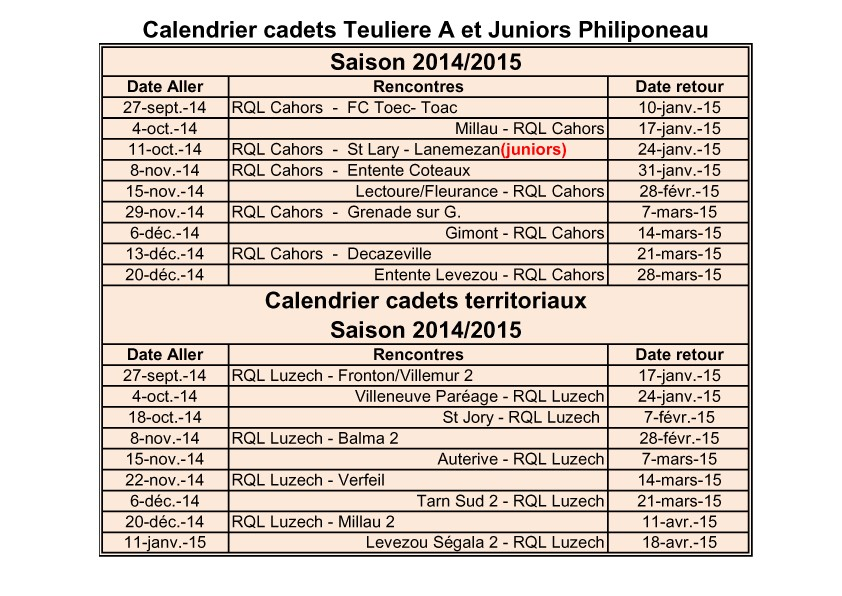 Planning matchs cadet A et juniors Momo 30-9-2014 copy